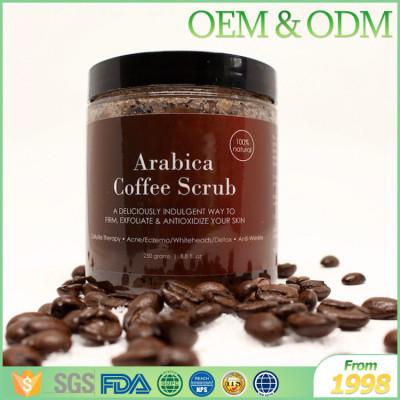 Wholesale best Korea coffee body scrub to remove dead skin body exfoliator scrub