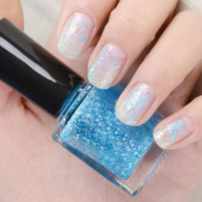 Private lable water based gel nail polish for dark skin matte nail polish with nylon fibers