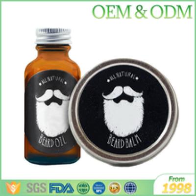 Private label GMPC certification 100% natural beard oil men organic oil beard