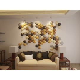 Hexgon leather wall panel fireproof interior home wall board