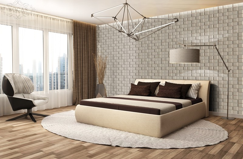 3d leather wall panel show