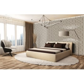 Leather Wall Covering  3D Leather Wave Panel Wall Coverings Faux leather Material