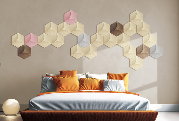 Eco-friendly 3D Faux Leather Wall Tiles Peel and Stick Textured Wall Covering PU Material Panels