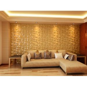 Diamond design Modern design 3d board leather tiles 3d art design wallpanel