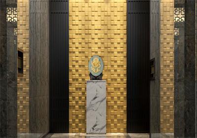 Luxury home decor 3d wall tiles for interior design art 3d leather tiles