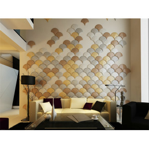 BOCAS FASHION interior decor home wall and ceiling material fan shape wall panel