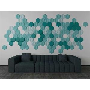 Hot selling hexgon shape 3D decorative panels home interior wall design/ceiling design board