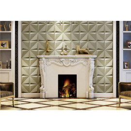 600X600MM Square shape 3d surface pu leather wall tiles/ceiling