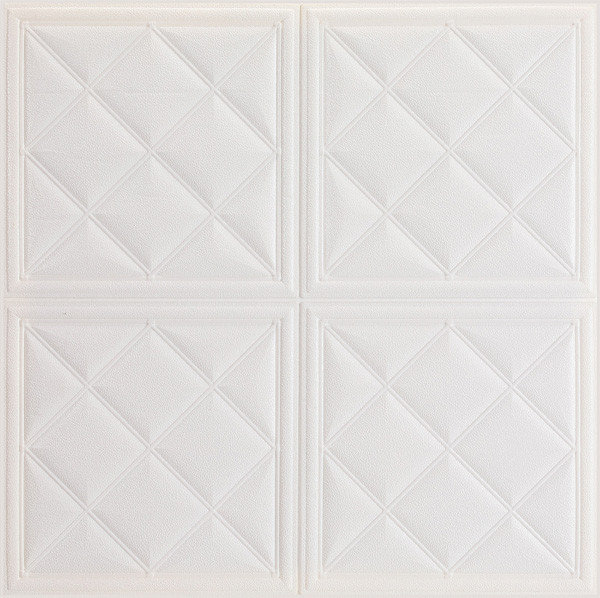 70*70cm square shape waterproof leather wall panel home designs
