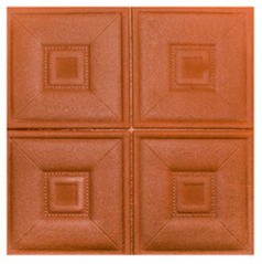 Leather wall panel of 3d wall sticker