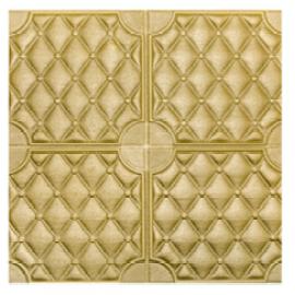Luxury Art 3d PU leather Self-adhesive wall sticker