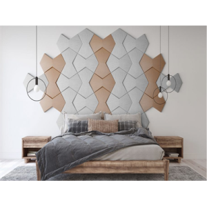 Luxury 3d leather tiles wall board decorate home design