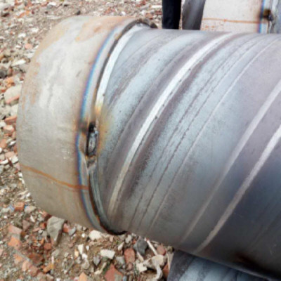 SSAW PILING PIPE WITH PILING SHOE