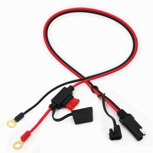 KUNCAN hot selling terminal to sae connector power cable with fuse protect