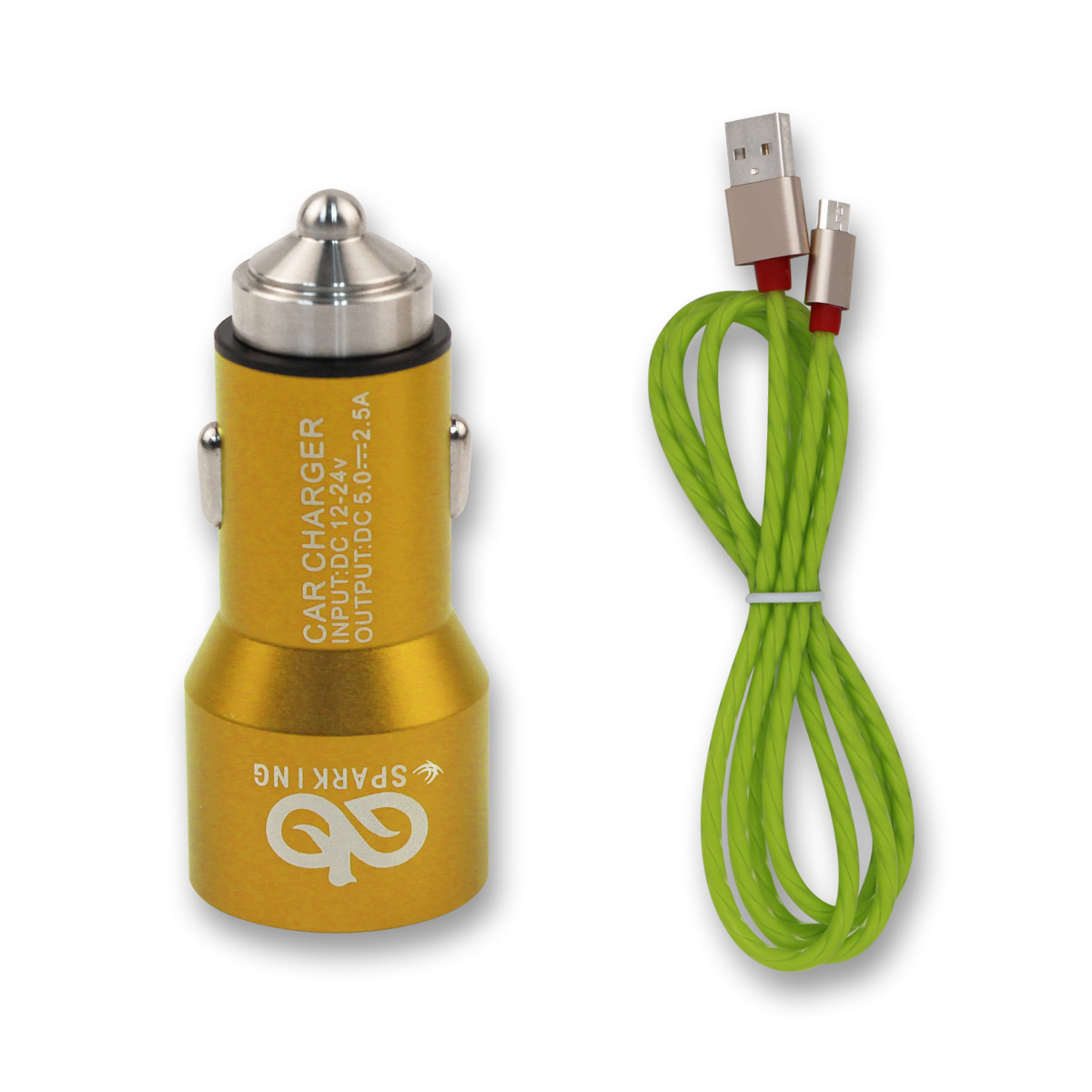 mini high performance dual car USB charger with over chargeing protection