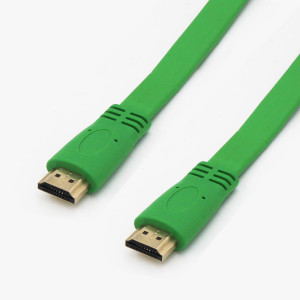 20FT High Quality HDMI FLAT Cable V1.4 3D 1080P Ethernet -Green- HDTV LED XBOX PS3 BLURAY