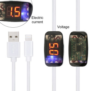 Micro USB Charging Cable Enough 5V 2.1A Output with LCD Screen Shows Current Voltage and Current 1.2m