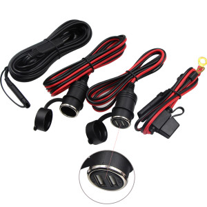 car accessories dc power cord cigarette lighter socket adapter solar cable