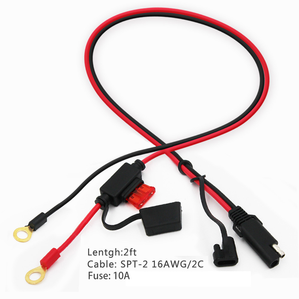 car charger battery clip to sae