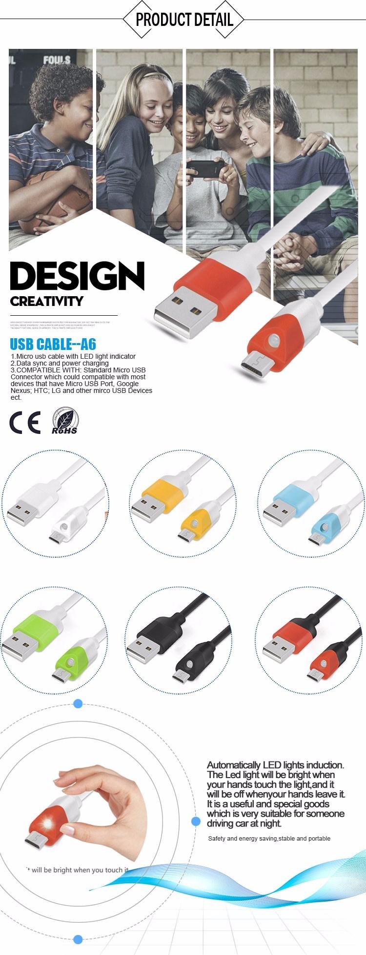 LED Micro USB cable