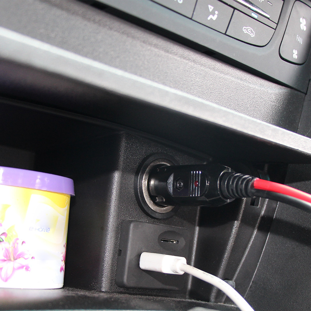 car battery jump cable cigarette lighter male plug
