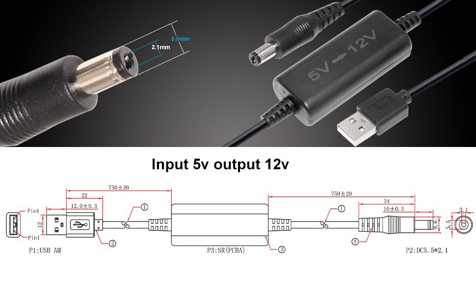 Convertidor de CC intensivo de 5V a 12V