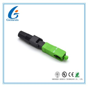 Pre - Polished Fiber Optic Fast Connector Easily Installed For 2 X 3 mm Drop Cable