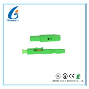 Quick Assembly Field Wireable Connector 38mm Reliable Fiber Optic LC Connector