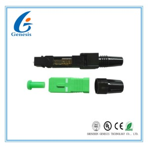 Circle Cable Fiber Optic Fast Connector 53mm SM / MM Optical Cable Connector