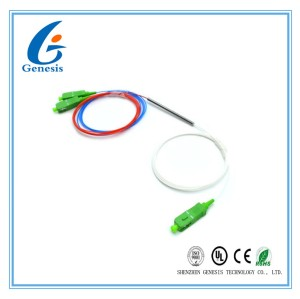 1310/1550nm 50/50 Ratio 1x2 FBT fiber optic coupler splitter SC / APC Connector