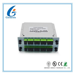 Cassette Card Inserting Fiber Optic PLC Splitter 1x16 1X32 Modular design With Low PDL