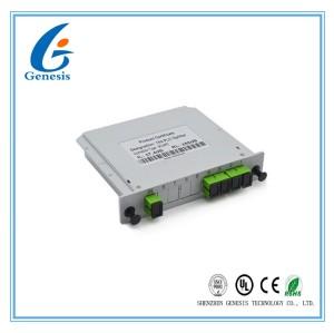 SCAPC Fiber Optic PLC Splitter Modular Structure 1x4 PLC Splitter Cassette Type