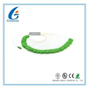 1x64 Fiber Optic PLC Splitter Mini Type Low Insertion Loss Steel Tube Structure