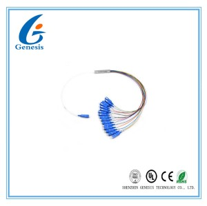 Steel Tube Planar Lightwave Circuit Splitter SCUPC 1x16 PLC Splitter For FTTC