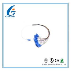 Steel Tube Planar Lightwave Circuit Splitter SCUPC 1x16 PLC Splitter For FTTC