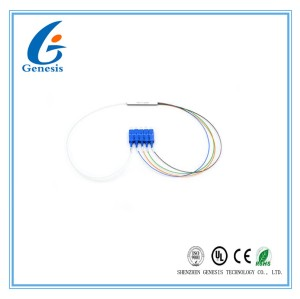 High Reliability Fiber Optic PLC Splitter 1 x 4 Mini Type With SC UPC Connector
