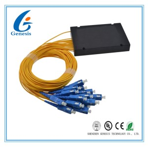 Low Insertion Loss Fiber Optic PLC Splitter 1260 - 1650nm Wavelength With Box 1x16