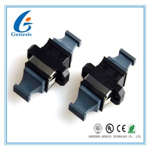 MPO MTP Flange Fiber Optic Adapter Black Bare Fiber Adapter APC Polished