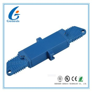 UPC fiber optical adapter For CATV , Single / Multi Mode E2000 Fiber Connector