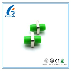 Green Simple FC Fiber Optic Adapter Single Mode With Zirconia Sleeves ROHS Approved