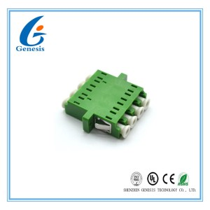 Telecom Network LC Fiber Connector , Quad Single Mode Flange Coupling Adaptor