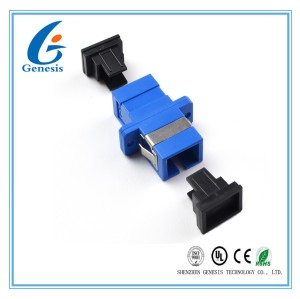 Simplex ST Fiber Optic Adapter Blue SM / MM Single Mode With High Return Loss