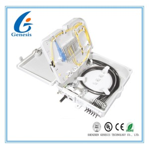 8 Core Cable Distribution Box , Outdoor Wall Mount Fiber Termination Box