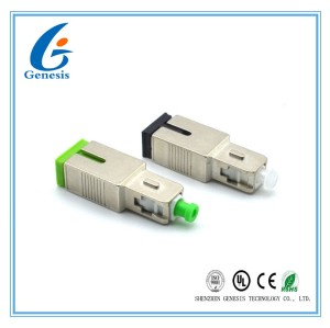 Fixed Optical Attenuator Male To Female , SCAPC / SCUPC Optical Fiber Attenuator