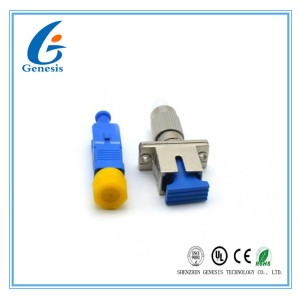 FC - SC Fiber Optic Attenuator 1 - 30dB FTTH Converter With Metal  Plastic Housing
