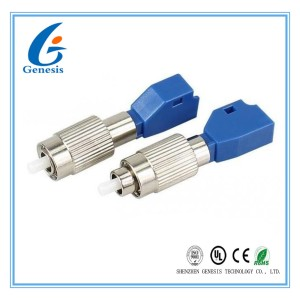 LC Female To FC Male Fiber Optic Attenuator SM 9 / 125 Single Mode Fiber Attenuator