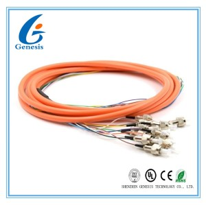 2.0 / 3.0mm Optical Fiber Pigtail Flexible SM MM OM4 OM3 FC 4 - 48 Core For WAN