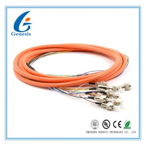 2.0 / 3.0mm Optical Fiber Pigtail Flexible SM MM OM4 OM3 FC 4 - 48 Core For WAN
