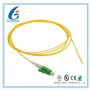 Yellow SM Pigtail Fiber Optic Cable G652D Simplex 0.9 / 2.0mm LSZH For CATV Systems