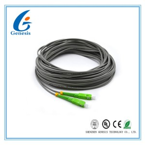 50 M SC / APC Optical Fiber Pigtail , Gray 2 Core Simplex Single Mode Pigtail